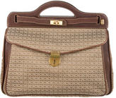 Mark Cross Leather-Accented Satchel