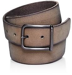 AllSaints Men's Rivet Square Buckle Leather Belt