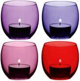 LSA International Coro Assorted Tealight Holders - Set of 4 - Berry