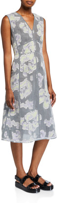3.1 Phillip Lim Abstract Daisy Fil Coupe Midi Dress