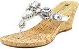 White Mountain 'ABRA' Women's Sandal, White Leather, Size 9.0