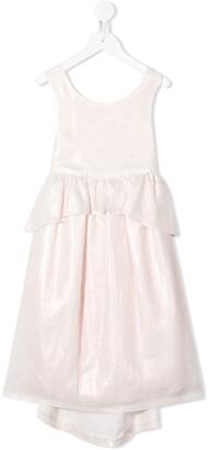 Bonpoint ruffled waist dress