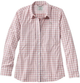 L.L. Bean Women's Tropicwear Pro Stretch Shirt, Long-Sleeve Plaid