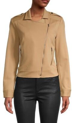 BCBGMAXAZRIA Asymmetrical-Zip Jacket