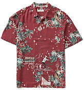 Tommy Bahama Merry Kitchmas Christmas Pattern Silk Shirt