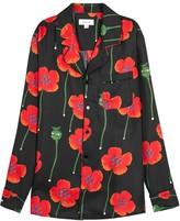 Soulland Poppy-print Silk Twill Shirt