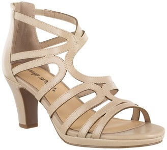 Easy Street Shoes Elated Asymmetrical Strappy Heeled Sandal - Multiple Widths Available