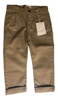 Gucci Camel Cotton Trousers