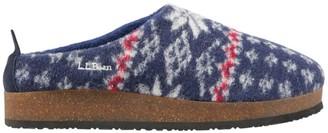 L.L. Bean Women's L.L.Bean Wool Slipper Clogs, Print
