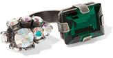 Marni Silver-tone Crystal Ring - L