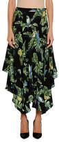 Stella McCartney Birds of Paradise Printed Crepe de Chine Skirt w/ Handkerchief Hem