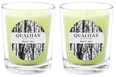 Qualitas Candles Hazel Tree Beeswax Candles (Set of 2) (6.5 OZ)