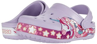 Crocs Fun Lab Unicorn Band Clog (Toddler/Little Kid) (Lavender) Girl's Shoes