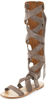 Rag & Bone Ilaria Suede Tall Gladiator Sandal, Warm Gray