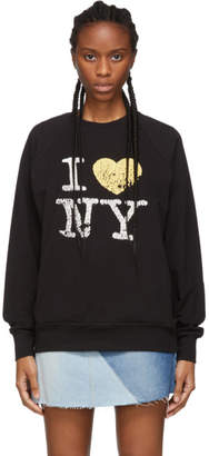 6397 Black Oversized I Love NY Sweatshirt