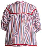 Stella Jean Puff-sleeved striped blouse