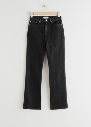 And other stories Crush Cut Cropped Jeans