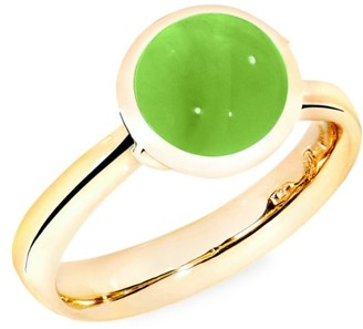 Tamara Comolli Small Bouton 18K Yellow Gold & Peridot Ring