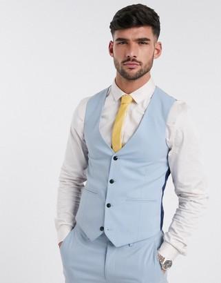 Harry Brown skinny fit plain suit suit vest