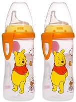 NUK Disney Winnie the Pooh 10 Ounces Active Cup Silicone Spout, 12+ Months, 2-Pack by