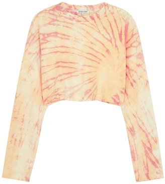 Cotton Citizen Tokyo Tie-dyed Cropped Cotton Top