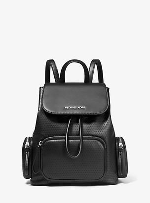 MICHAEL Michael Kors MK Abbey Medium Perforated Backpack - Black - Michael Kors
