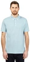 J By Jasper Conran Big And Tall Turquoise Birdseye Textured Polo Shirt