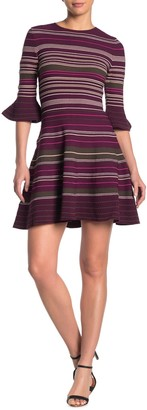 Ted Baker Tayiny Striped Ruffle Cuff Dress