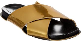 Marni Fussbett Criss-Cross Leather Slide