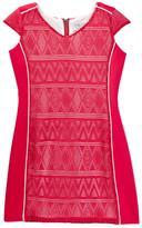 Blush by Us Angels Crochet Knit Scuba Cap Sleeve Dress (Big Girls)