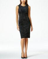 Calvin Klein Faux-Suede Sheath Dress