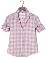 Frank And Eileen Womens Barry Check Linen Shirt