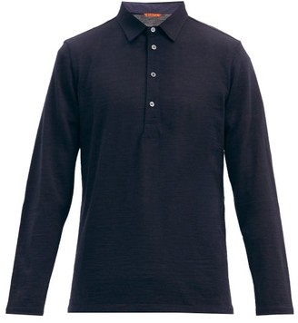 Barena Mezolera Knitted Wool-blend Polo Shirt - Navy