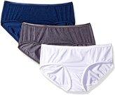Vanity Fair Women's 3 Pack Body Shine Illumination Hipster Panty 18307