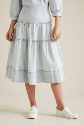 Seed Heritage Tiered Denim Skirt
