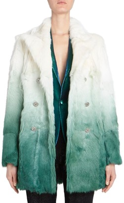 Each X Other Dip-Dye Goat Fur Coat