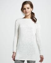 Rachel Zoe Semisheer Ribbed Tunic Sweater