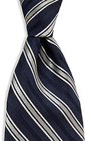Roundtree & Yorke Racing Stripes Traditional Silk Tie
