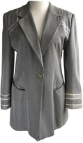 Escada Grey Wool Jacket for Women Vintage