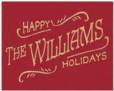 Personalized Happy Holidays Canvas