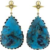 SYLVA & CIE Pear Shape Turquoise Earrings