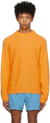 ERL Orange Alpaca and Mohair Sweater