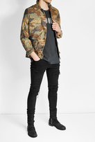 Amiri Embellished Camo Print Cotton Jacket