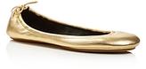 Kate Spade Globe Metallic Leather Travel Ballet Flats