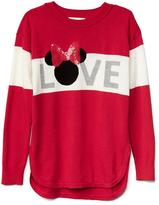 GapKids | Disney Minnie Mouse embellished hi-lo sweater