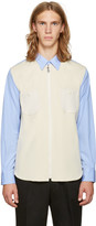 Junya Watanabe Blue & White Knit Shirt