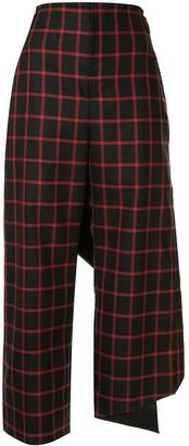 Maison Mihara Yasuhiro Check Print Trousers