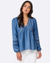 Forever New Elsie Embroidered Top