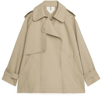 Arket Short Oversized Trench Coat