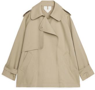 Arket Short Oversized Trench Coat